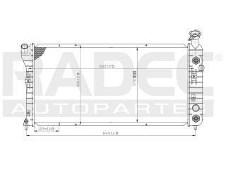 radiador chevrolet impala 2000-2001-2002 v6 3.4/3.8 lts auto