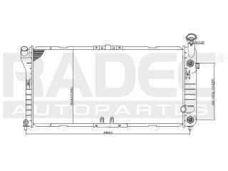 radiador chevrolet montecarlo 1996-1997 v6 3.1/3.8lts auto