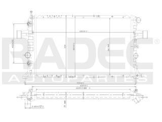 radiador chevrolet zafira 2000-2001 l4 1.6/1.8/2.2lts estand