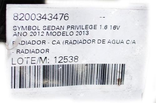 radiador clio hatch privilege 1.0 16v hi-flex 2006 -12538