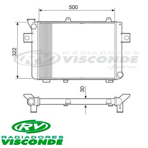 radiador corcel ii / del rey / pampa 1.6 cht - novo
