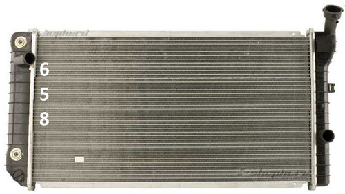 radiador cutlass supreme 2.3l 2.8l 3.1l 1988 - 1991 nuevo!!!