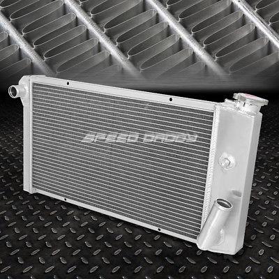 "3-ROW RACING RADIATOR+2X 9/"" FAN RED FOR 71-77 VEGA//75-76 ASTRE CHEVY SBC V8 SWAP"