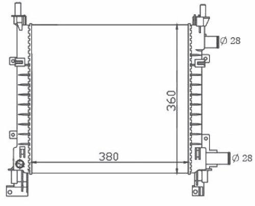 radiador de agua ford ka 1.0 / 1.3 endura 97 - 99 com ar med
