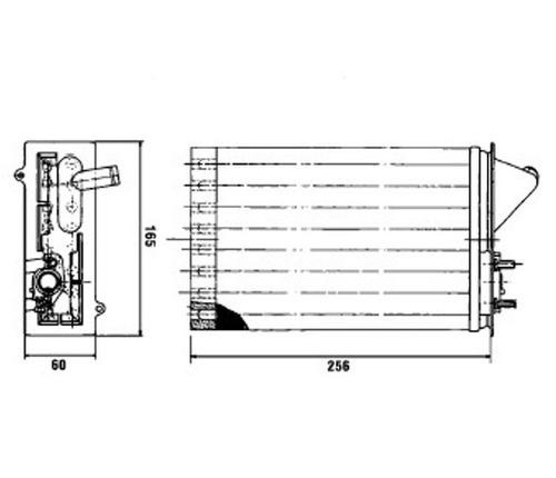 radiador de aquecimento uno furgao 1.5 8v gasolina91 94 c/ar