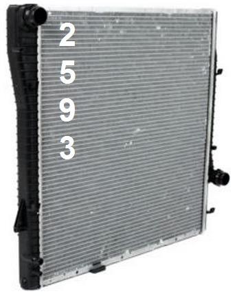 radiador de bmw x5 4.4l / 4.6l / 4.8l v8 2000 - 2006 nuevo!!
