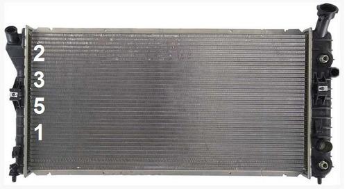 radiador de buick regal 3.8l v6 super cargado 2000 - 2004