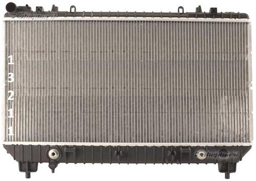 radiador de chevrolet camaro 3.6l v6 standard 2010 - 2011