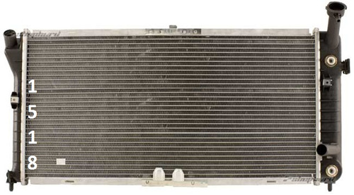 radiador de chevrolet monte carlo v6 1995 - 1999 nuevo!!!
