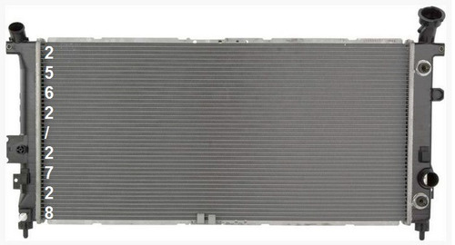 radiador de chevrolet uplander 3.5l v6 2005 - 2006 nuevo!!!