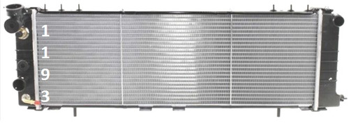 radiador de jeep cherokee 2.5l l4  4.0l l6 1991 - 2001