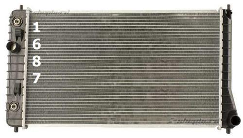 radiador de pontiac sunfire 1995 - 2002 nuevo!!!
