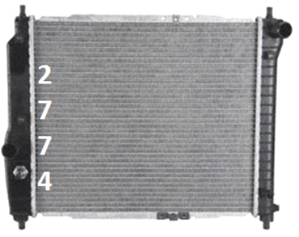 radiador de suzuki swift 1.5l l4 2007 - 2009 nuevo!!!
