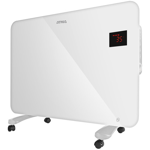 radiador de vidrio atma rv1615we 1500w blanco