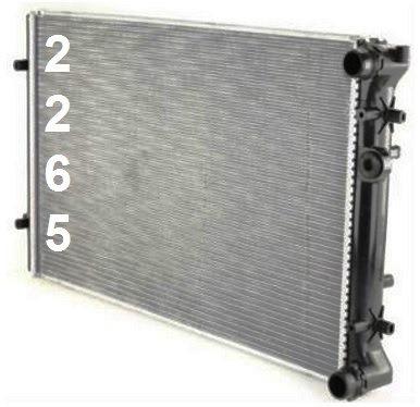 radiador de volkswagen golf / gti 1999 - 2006 nuevo!!!