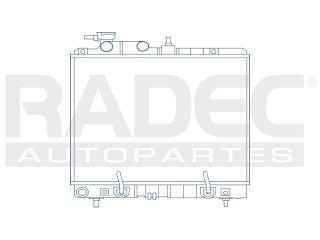 radiador dodge atos 2004-2005-2006-2007 l4 1.0 lts estandar
