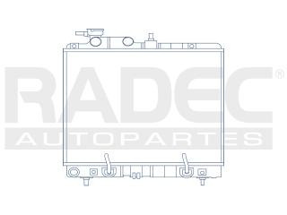 radiador dodge atos 2012 l4 1.0 lts estandar