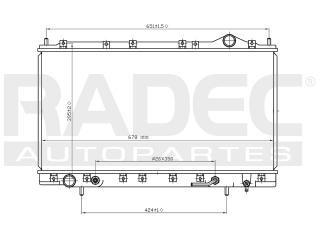 radiador dodge avenger 1995-1996-1997 l4 2.0/2.4 lts auto
