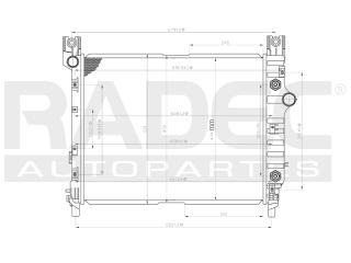 radiador dodge dakota 2004 l4/v6/v8 2.5/3.9/5.9 lts aut