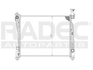 radiador dodge durango 2013 v6 3.6/5.7/6.4l c/aire auto
