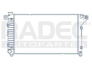 radiador dodge pick up 1994-1995-1996-1997 v6/v8 3.9 lts std