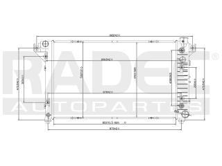 radiador dodge ram 1997-1998-1999 v6/v8 3.9/5.2l automatico