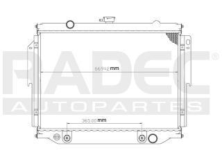 radiador dodge van 2003 v6/v8 3.9/5.9 lts automatico