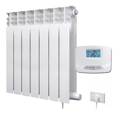 radiador eléctrico 7 elem 1000w termostato inalambrico