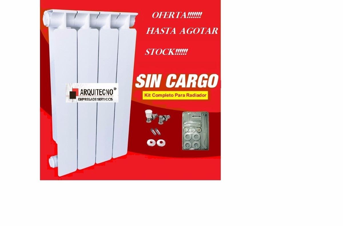 Radiador Elementos Mec 500 80 Italiano Calefaccion Con Kit 395  ~ Precio Instalacion Calefaccion Radiadores