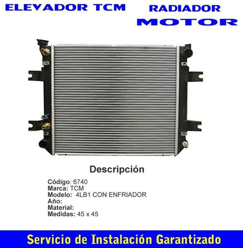 radiador elevador tcm 4lb1 con enfriador caja