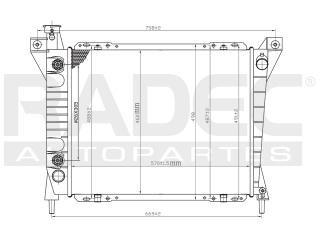 radiador ford aerostar 1994-1995-1996-1997 v6 4.0 lts auto