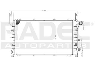 radiador ford courier 2004 l4 1.4/1.6 lts std