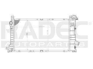 radiador ford escort 1989-1990-1991 l4 2.0/2.3 lts auto