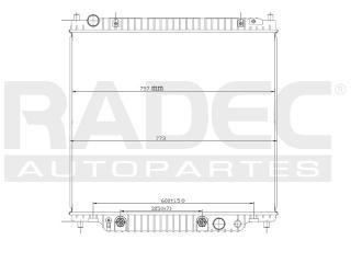 radiador ford excursion 1999-2000-2001-2002 v8 5.4 lts auto