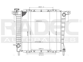 radiador ford explorer 1985-1986-1987 v6 3.4/4.0 lt estandar