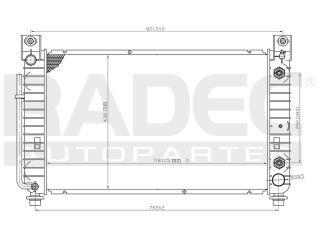 radiador gmc sierra 2002-2003-2004 v8 4.8/5.3 lts automatico