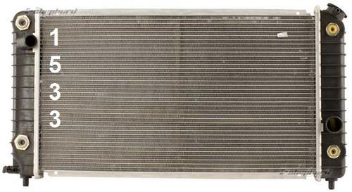 radiador gmc sonoma pickup 4.3l v6 1994 - 1995 nuevo!!!