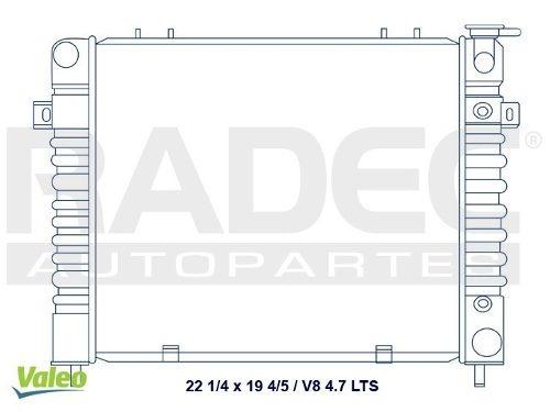 radiador  grand cherokee 93-98 v8 4.7 lts automatico
