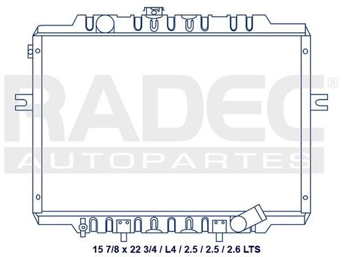 radiador  h-100 99-07 l4 2.5 lts estandar