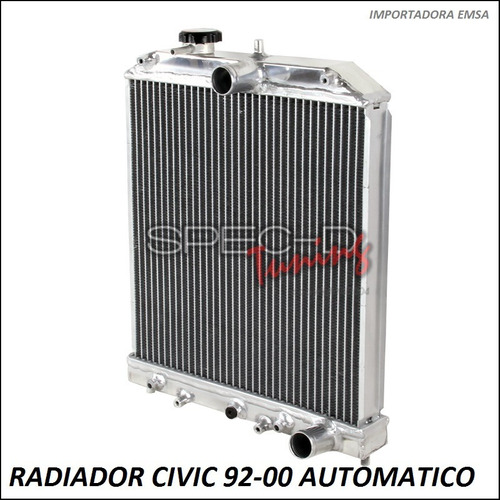 radiador honda civic 92 - 00 doble fila a/t oferta