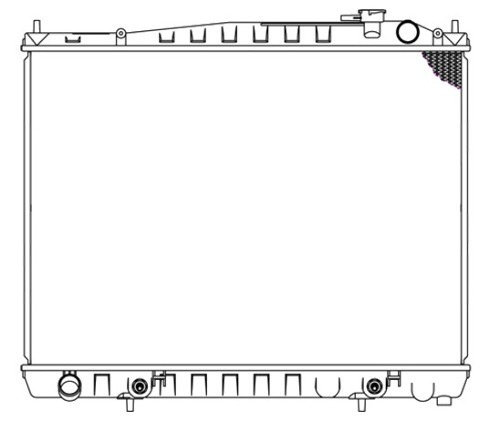 radiador infiniti qx4 2000 - 2004 v6 3.3/3.5l automatico rxc
