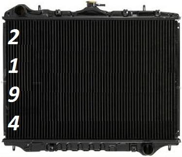 radiador isuzu rodeo 2.2l l4 1998 - 2000  nuevo!!!!