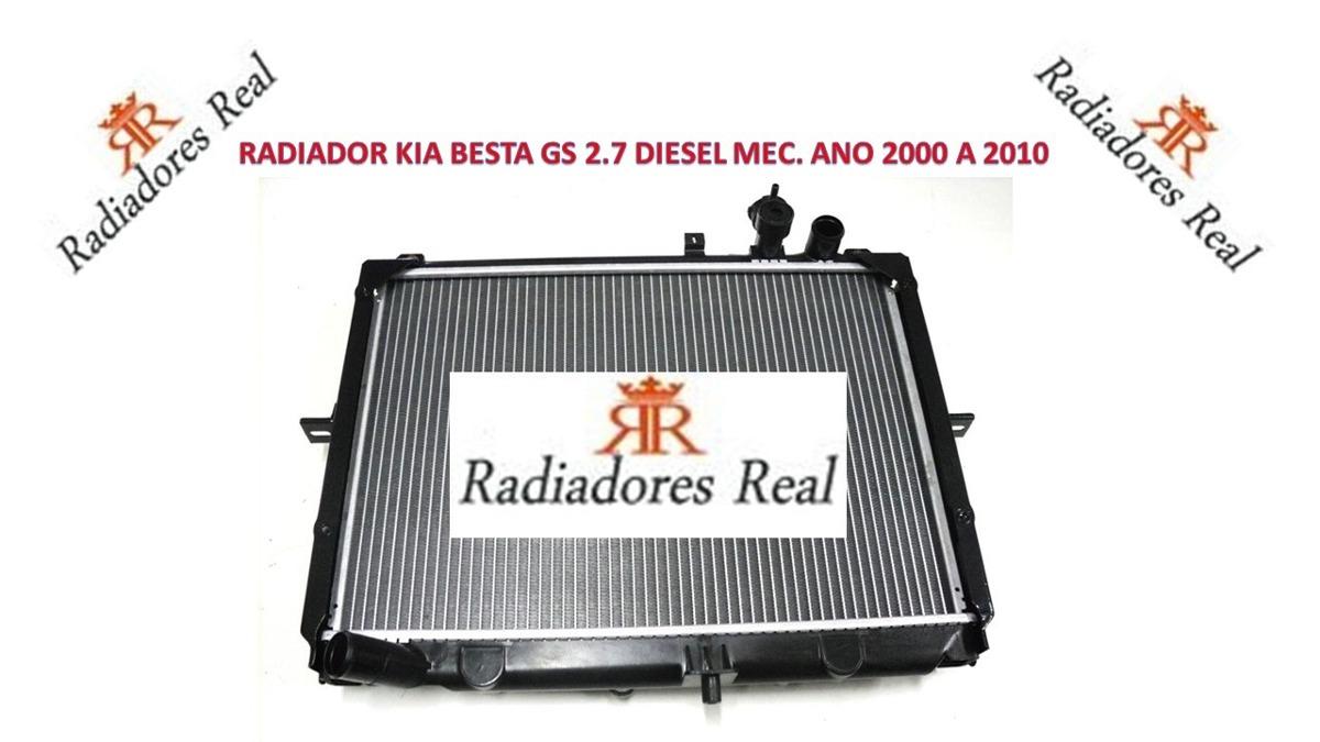 Radiador Kia Besta Gs 2 7 Diesel Mec  2000 A 2010