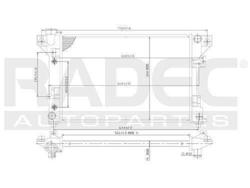 radiador  lebaron/shadow/spirit 91-95 l4/v6 2.2/3.0 lts auto