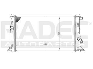 radiador mazda 5 2006-2007-2008-2009-2010 l4 2.3 lts auto