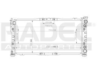 radiador mazda 626 1993-1994-1995-1996 l4 2.0 lts automatico