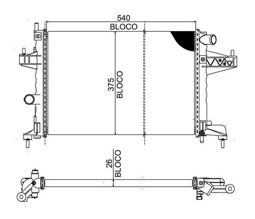 radiador montana 1.8 8v sport flex s/ar 2004 a 2009