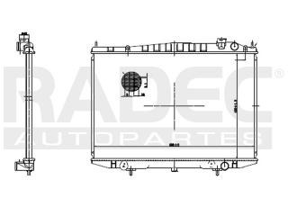 radiador nissan frontier 2007-2008-2009 v6 2.4/3.3l estandar