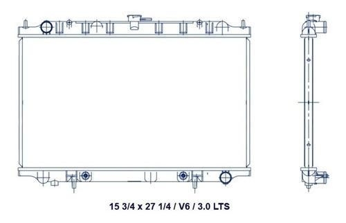 radiador nissan maxima 1994 - 2000 v6 3.0 lts automatico rxc