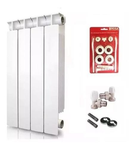 radiador peisa tropical 500 + kit conexión completo